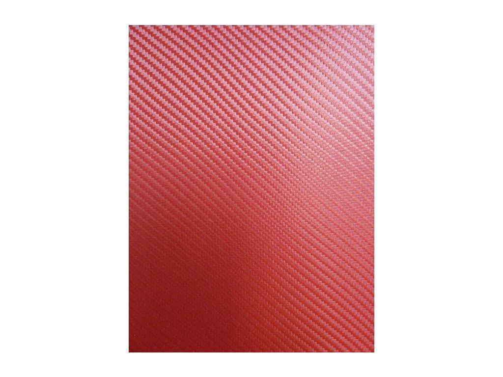 Grafiwrap 3D autofóle Červená karbonová litá s kanálky