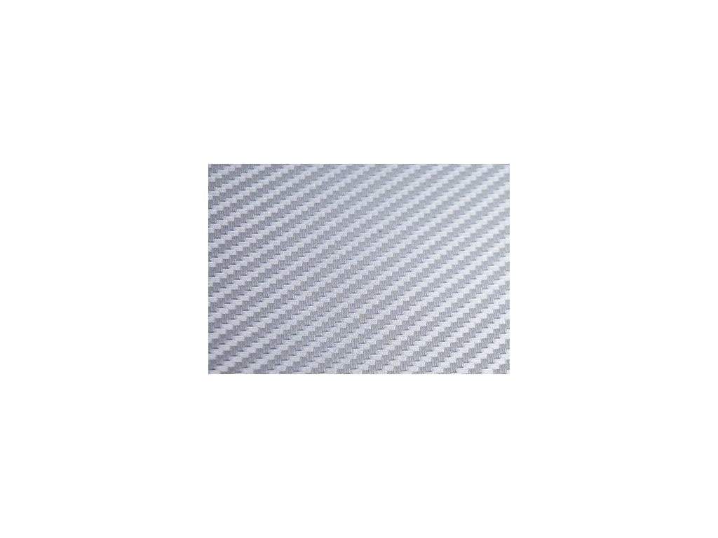 Grafiwrap autofolie Stříbrná karbonová fólie polymerická bez kanálků