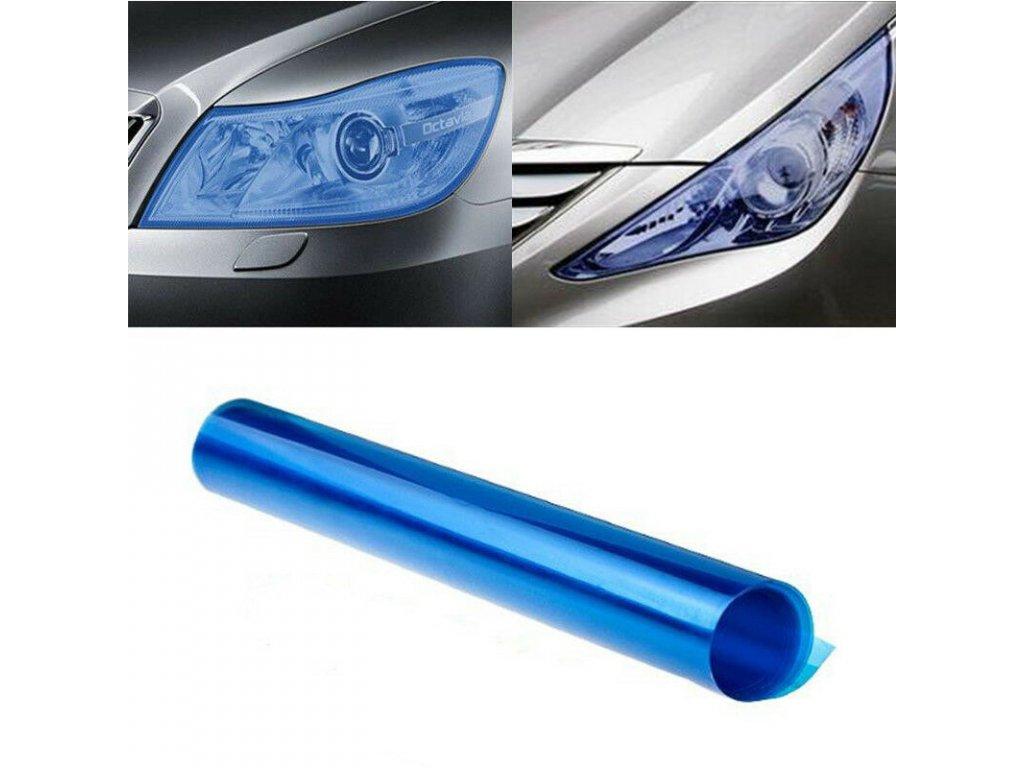 světle modrá autofolie na světla 2
