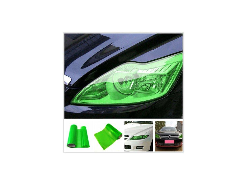 zelená autofolie na světla