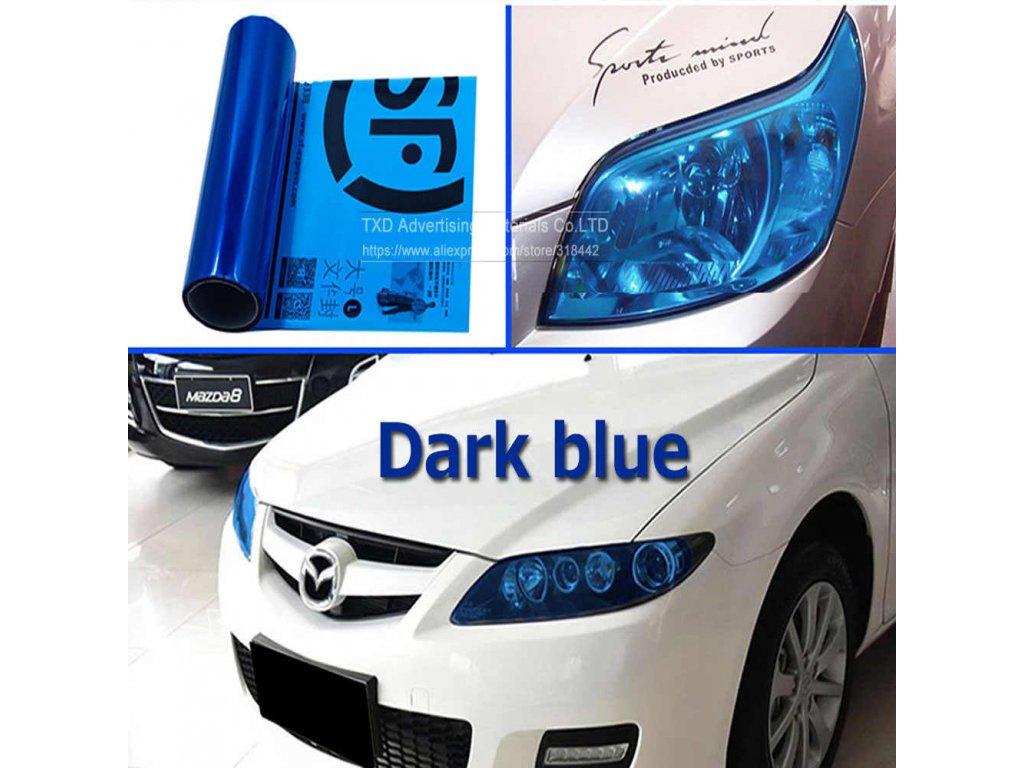 tmavě modrá na světla
