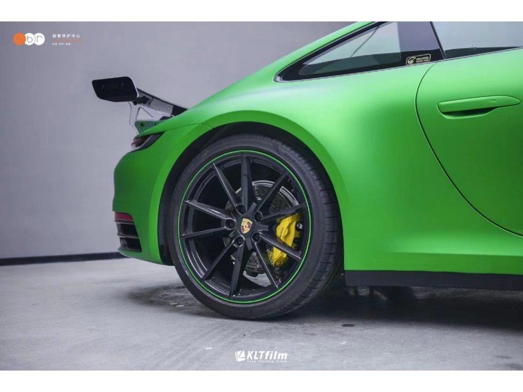 1203 AXEVINYL Green Matte Chrome Wrap Vinyl Satin Chrome Wrap Vinyl