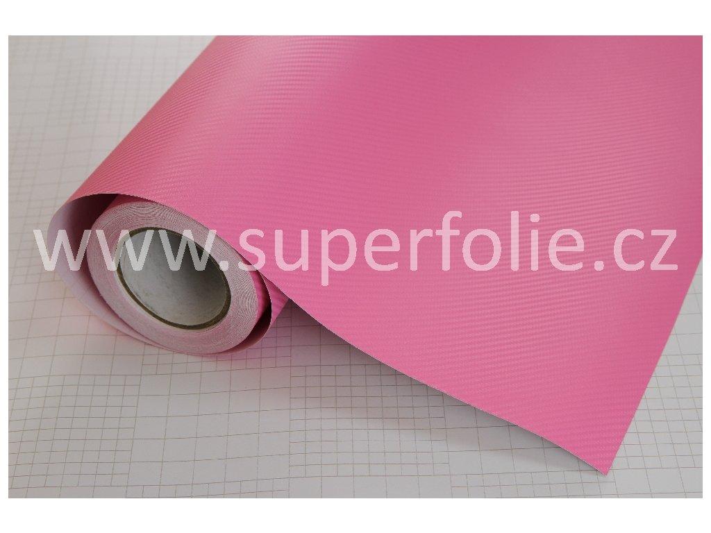Superfolie Autofólie na světla Růžová karbonová fólie, kanálky