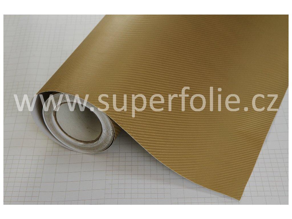 Superfolie Autofólie na světla Zlatá karbonová fólie, kanálky