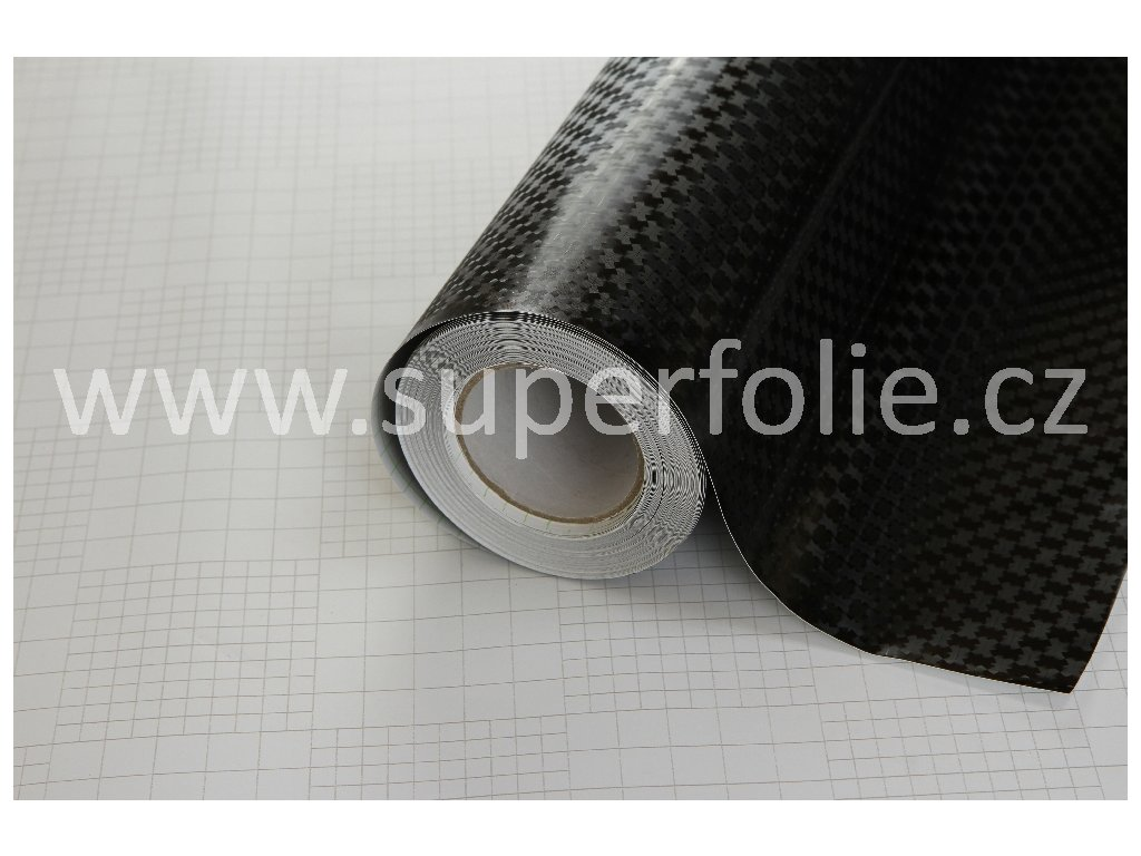 Superfolie Badge texture černý, kanálky