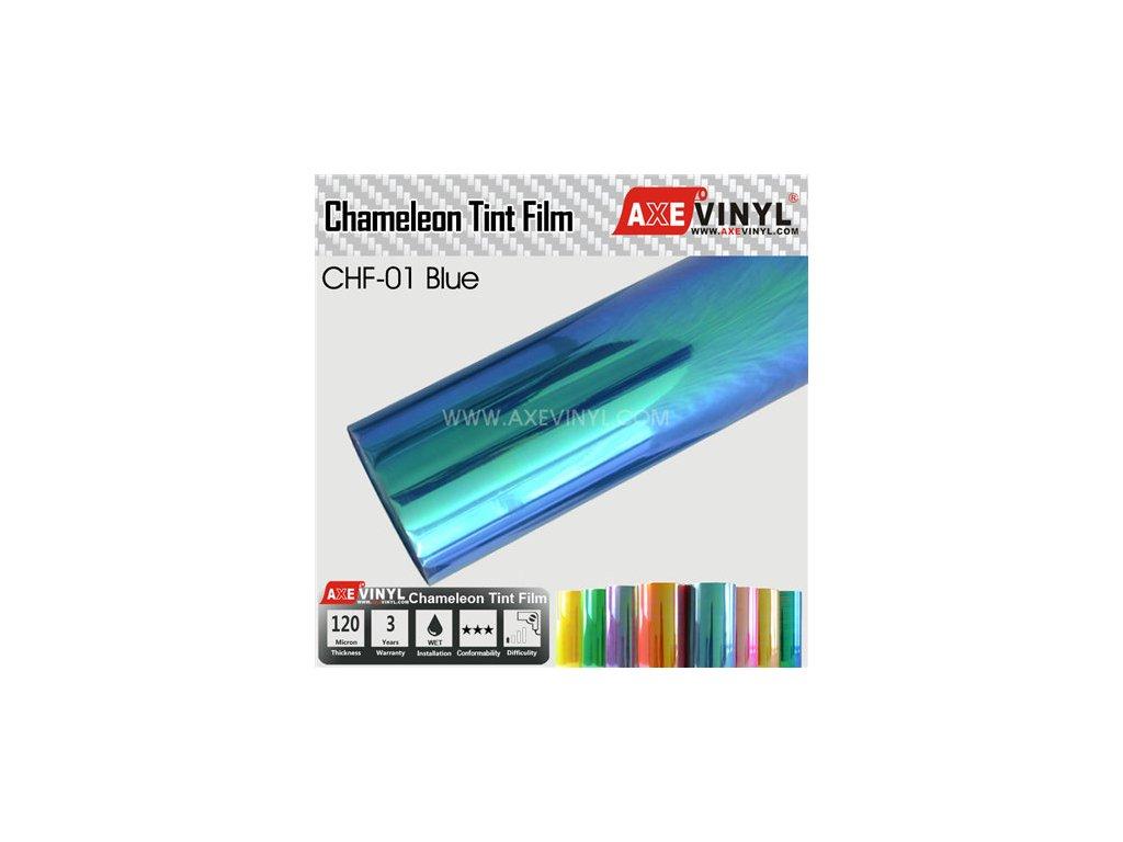 CHF 01 AXEVINYL Blue Chameleon Headlight Tint Film