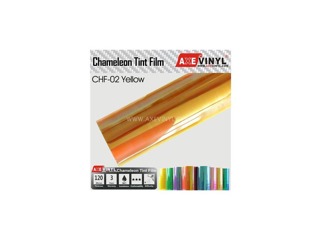 CHF 02 AXEVINYL Yellow Chameleon Headlight Tint Film