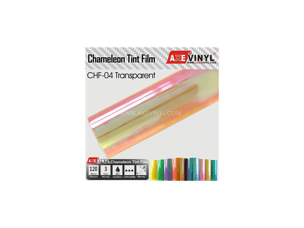 CHF 04 AXEVINYL Transparent Chameleon Headlight Tint Film