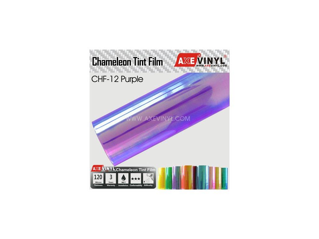CHF 12 Purple AXEVINYL Transparent Chameleon Headlight Tint Film