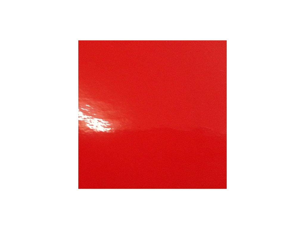 KPMF Výprodej Jasně červená lesklá kanálky 152 x 100 cm