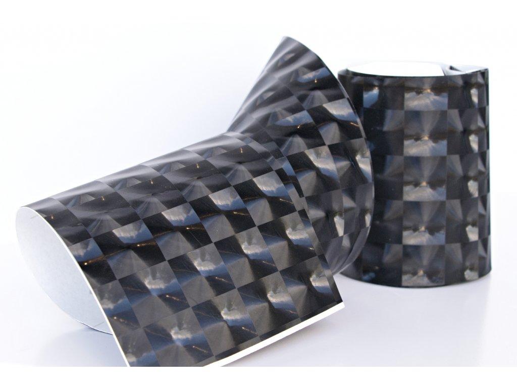 Superfolie autofólie Flash Cat Eye 4D černá, kanálky