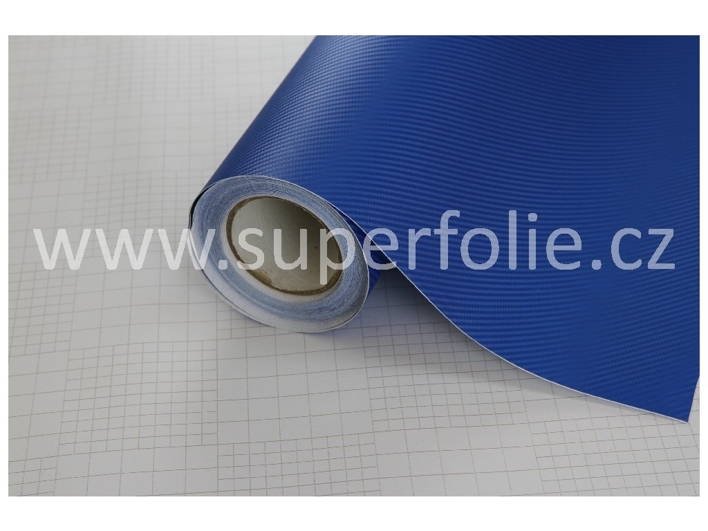 Superfolie Autofólie na světla Modrá karbonová fólie, kanálky