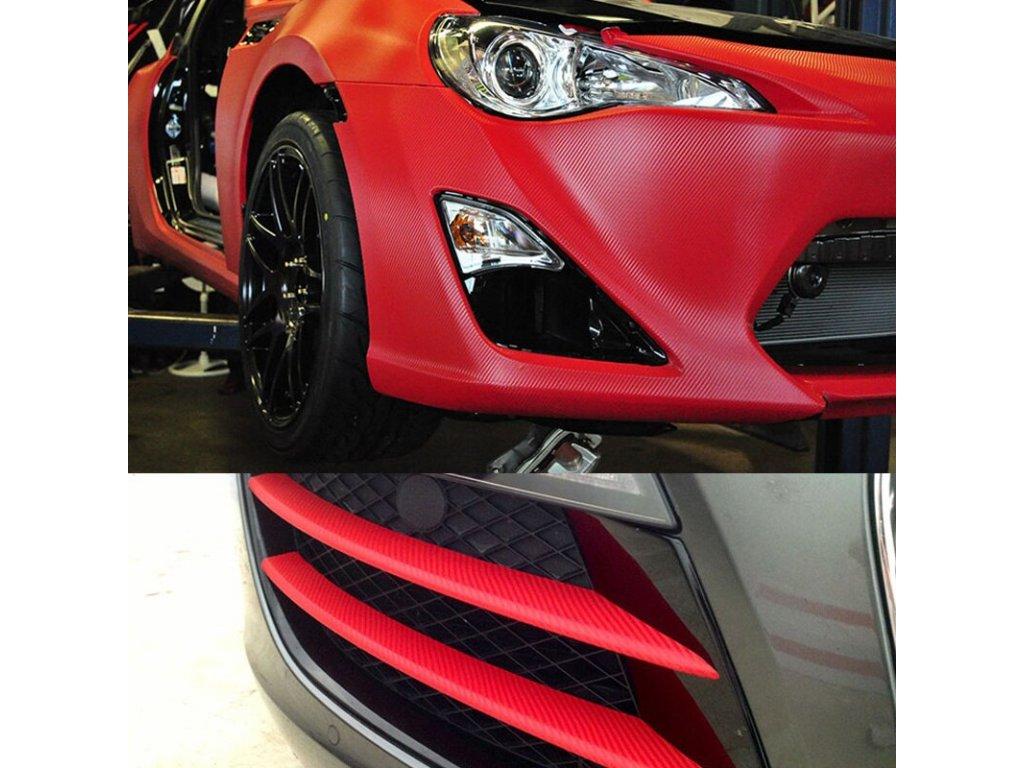 3D červený karbon