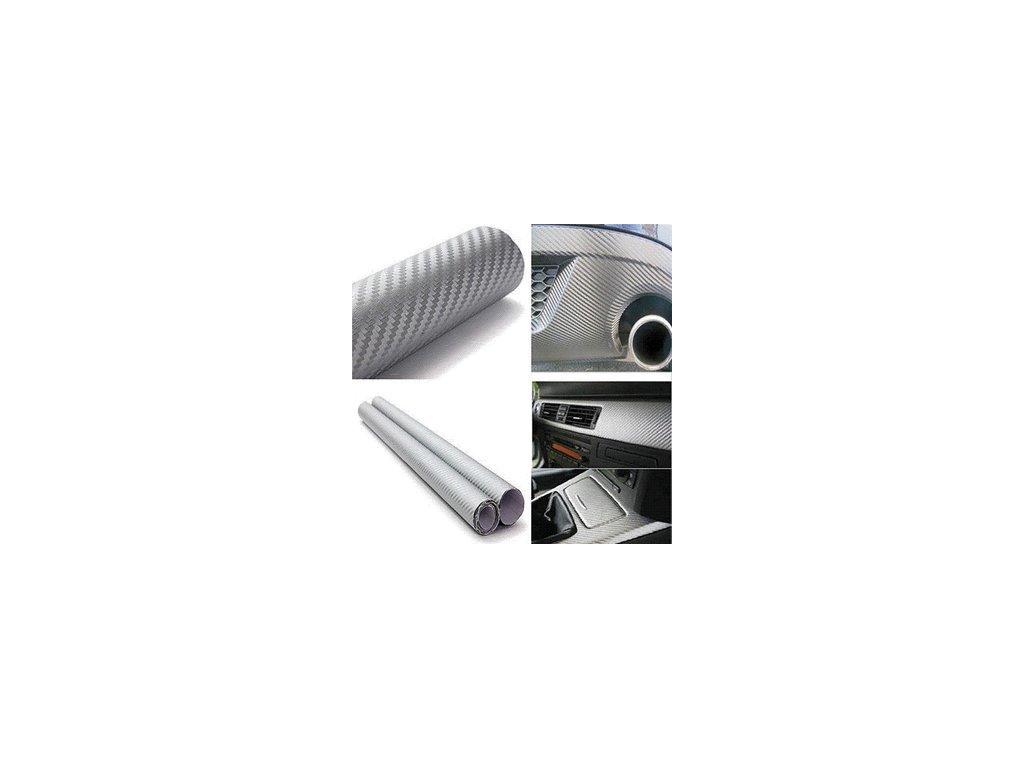 3D stříbrná karbon