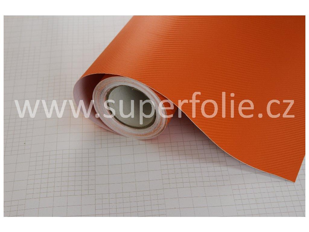 Superfolie Autofólie na světla Oranžová karbonová fólie, kanálky