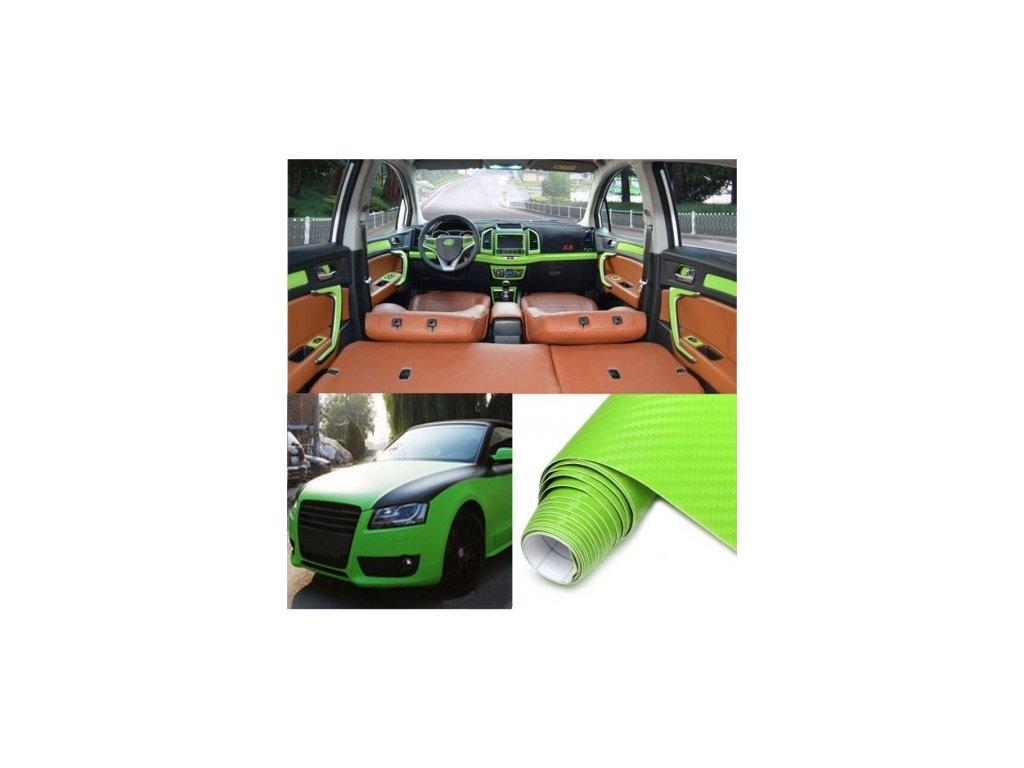 3D zelená karbon