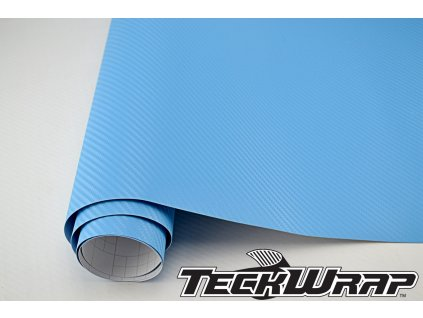 Teckwrap 3D karbonová fólie Světle modrá karbonová fólie, kanálky