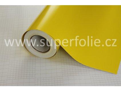 Superfolie autofólie Citronově žlutá matná, kanálky