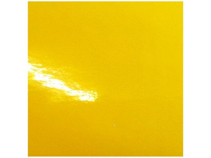 Slunečnicově žlutá lesklá KPMF, bez kanálků
