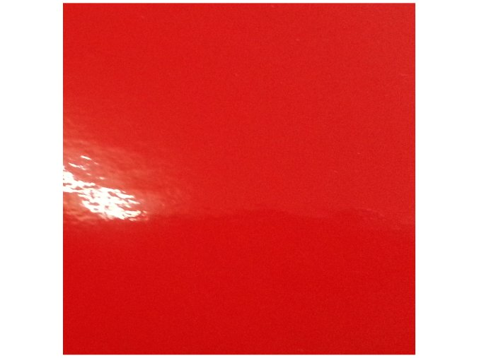 Jasně červená lesklá KPMF, bez kanálků