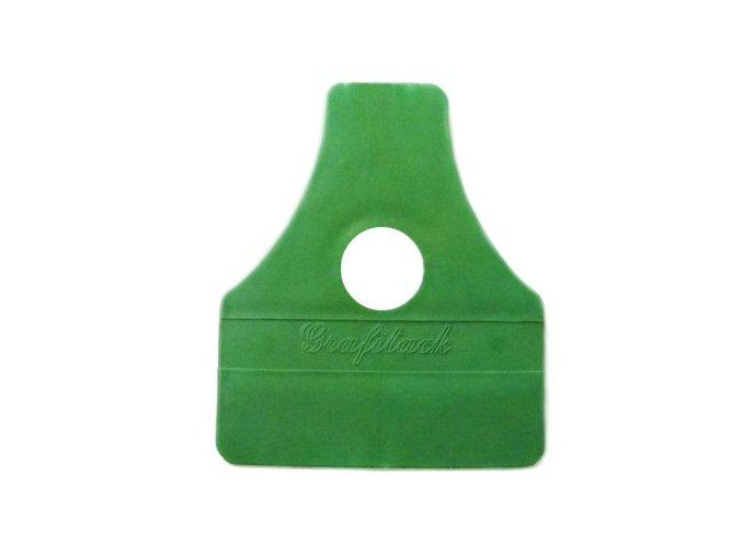 Plastová stěrka ostrá - zelená