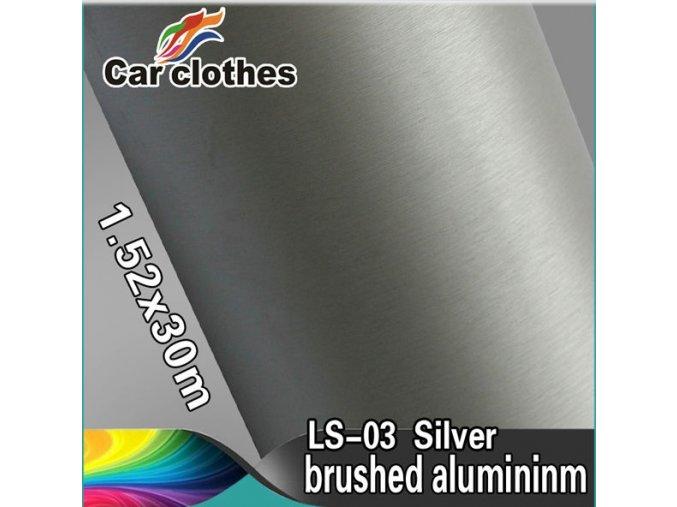 Broušený hliník stříbrný, kanálky