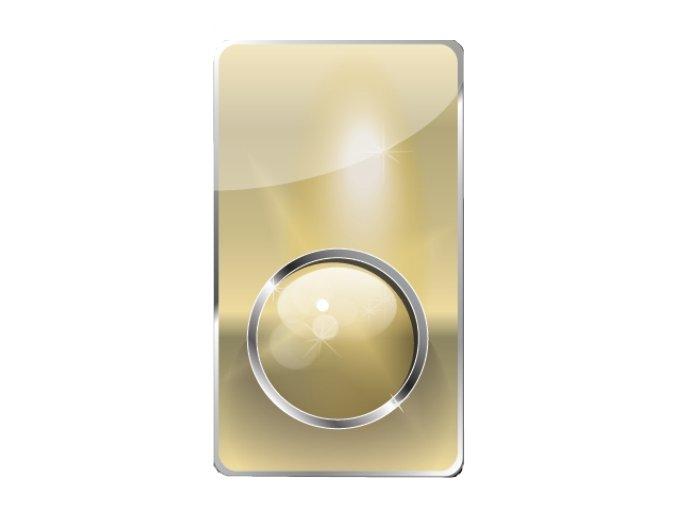 VViViD chrom zlatý 1m x 152cm
