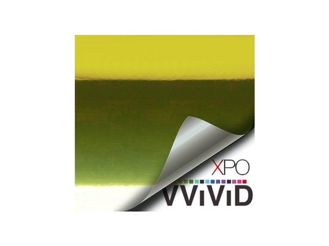 Žlutá lesklá chromová VViViD vinyl, kanálky