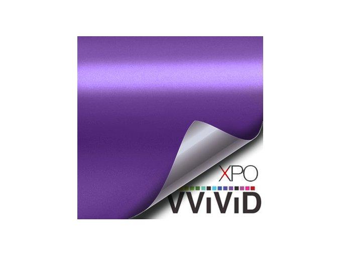 Fialová matná chromová VViViD vinyl, kanálky