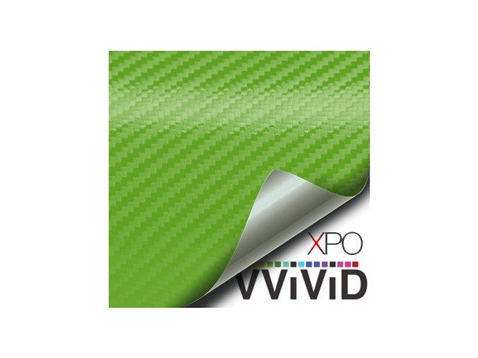 Zelená karbonová fólie VViViD vinyl