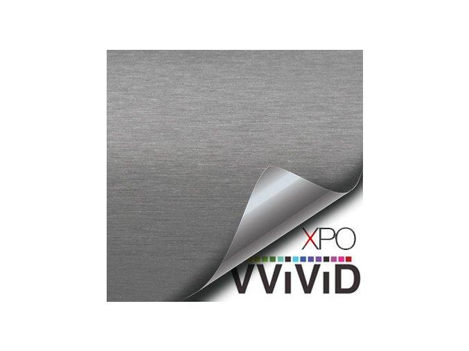 Stříbrný broušený hliník VViViD vinyl, kanálky
