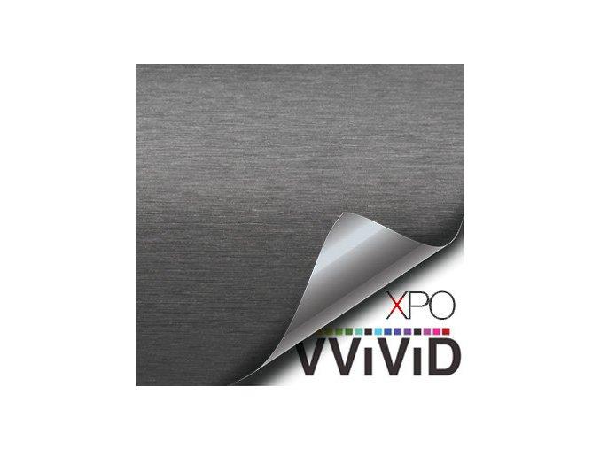 Šedý broušený hliník VViViD vinyl, kanálky
