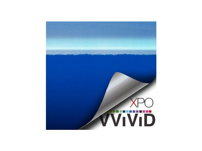 Námořnicky modrá lesklá VViViD vinyl, kanálky