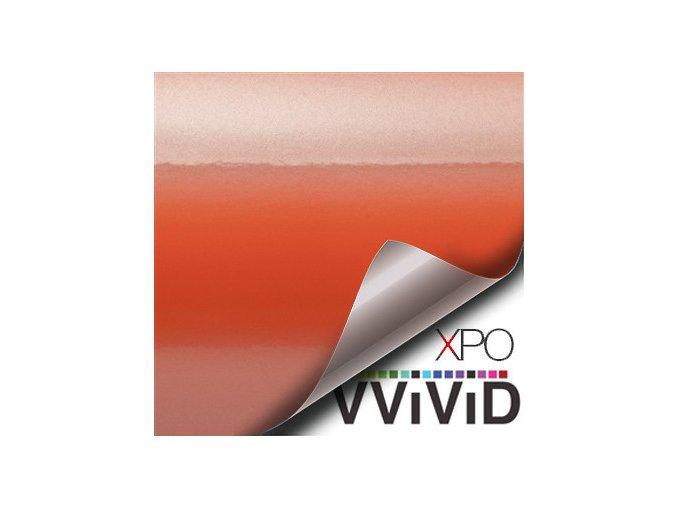 Ohnivě oranžová lesklá VViViD vinyl, kanálky