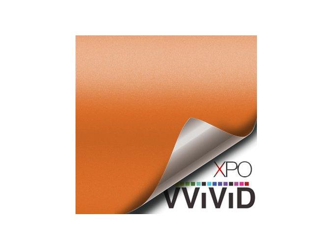 Jasně oranžová matná VViViD vinyl, kanálky