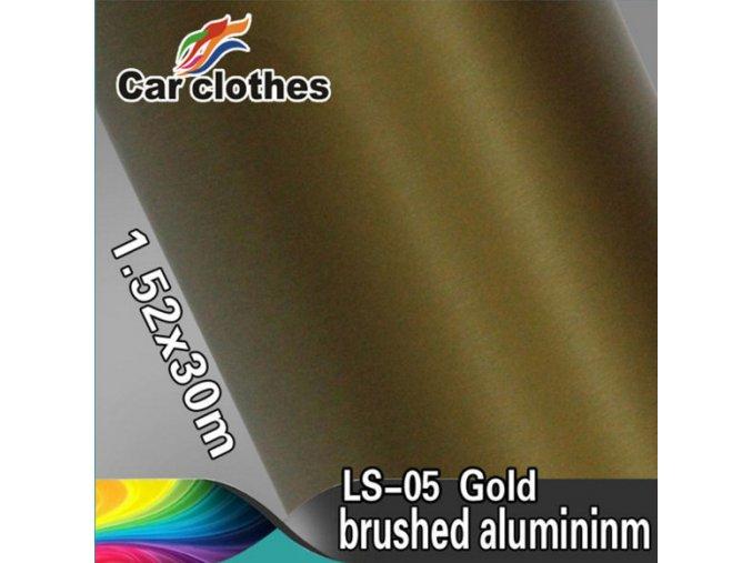 Broušený hliník zlatý, kanálky