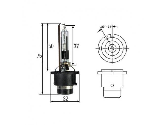 Xenonová výbojka D2s - 5000K