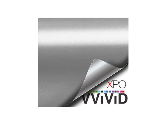 Stříbrná matná chromová VViViD, kanálky