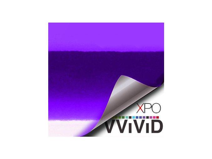 Fialová lesklá chromová VViViD vinyl, kanálky