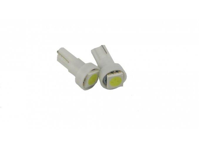Autožárovka s paticí T5, LED 5050, bílá