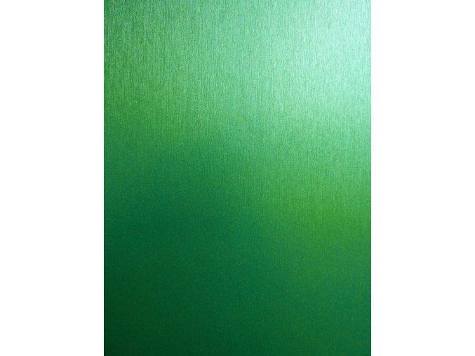 Světle zelený broušený hliník Grafiwrap, kanálky