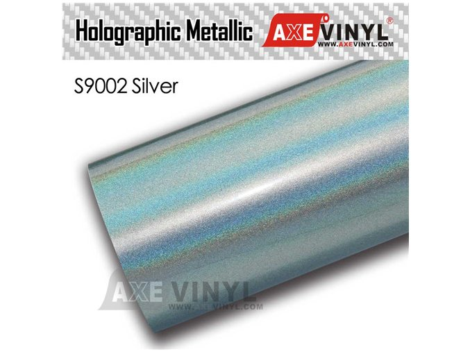 s9002 Silver Gloss Flip Psychedelic HOLOGRAPHIC METALLIC FILM