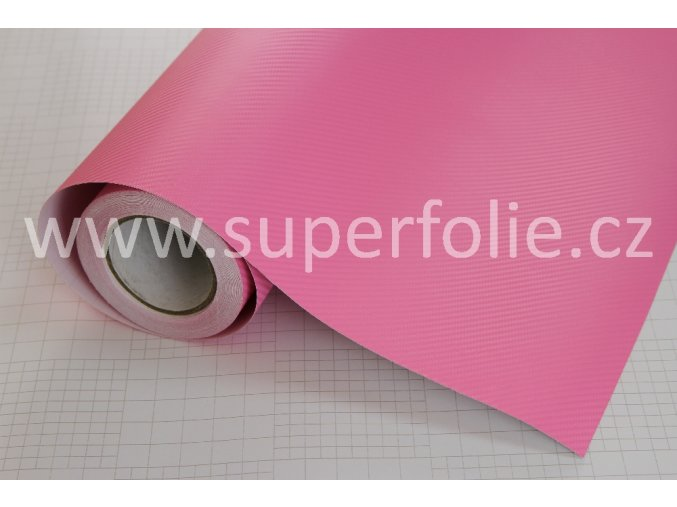 Růžová karbonová fólie, kanálky