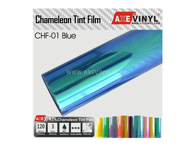 CHF 01 AXEVINYL Blue Chameleon Headlight Tint Film