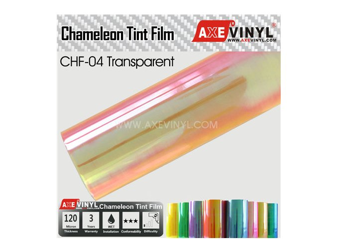 CHF 04 AXEVINYL Transparent Chameleon Headlight Tint Film