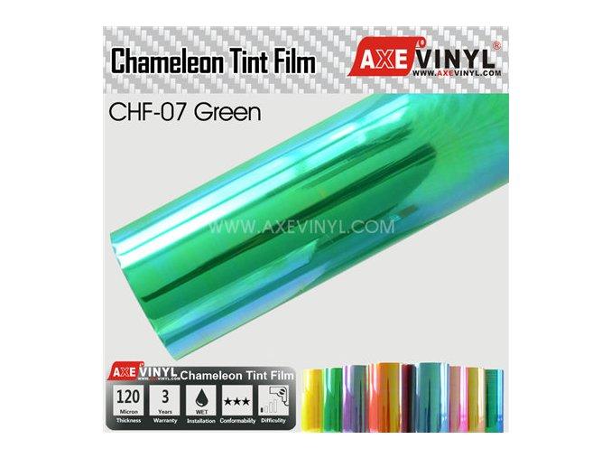 CHF 07 Green AXEVINYL Transparent Chameleon Headlight Tint Film