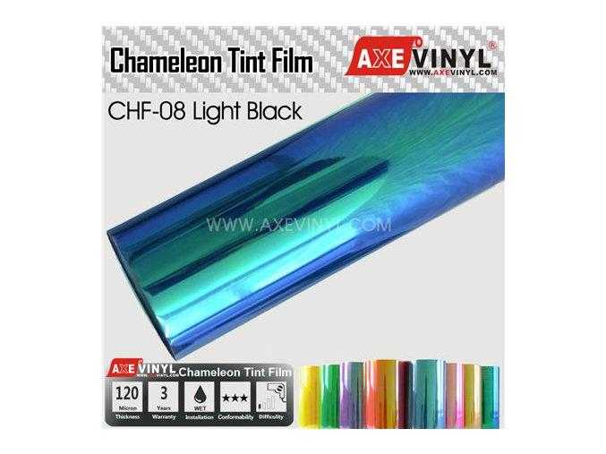 CHF 08 Light Black AXEVINYL Transparent Chameleon Headlight Tint Film (1)
