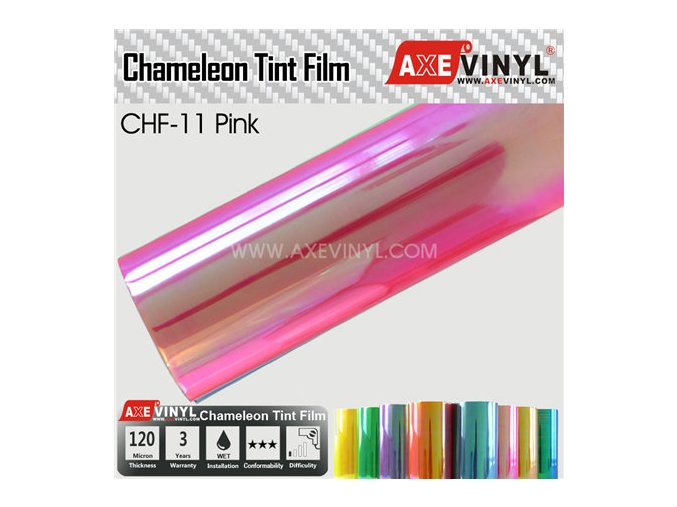 CHF 11 Pink AXEVINYL Transparent Chameleon Headlight Tint Film