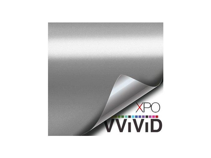 Stříbrná matná chromová VViViD, kanálky 92 x 130 cm