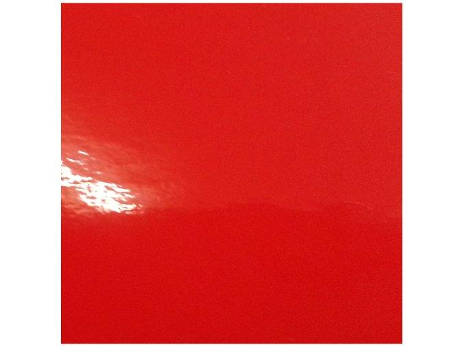 Jasně červená lesklá KPMF, kanálky 152 x 100 cm